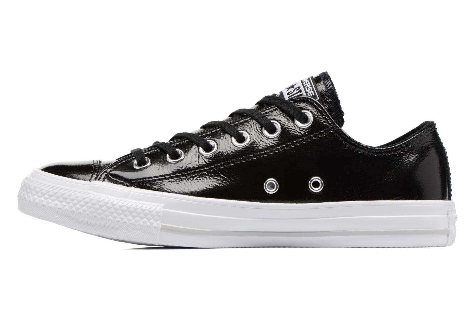 Baskets Converse Chuck Taylor All Star Crinkled Patent Leather Ox Noir vue face